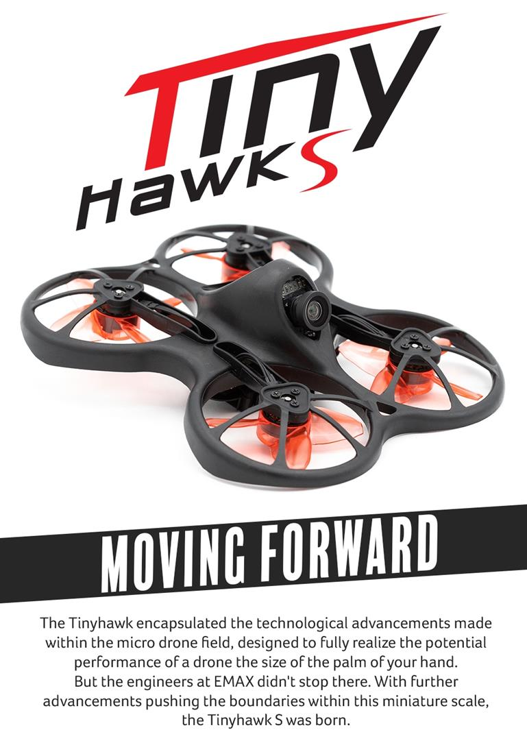 EMAX Tinyhawk S Brushless FPV BNF 1/2S