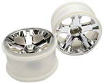 TRX-5576  Wheels, All-Star 2.8 (chrome) (nitro