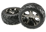 TRX-3773A Tires & wheels, assembled, glued Rear