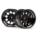 HPI-101252 Bullet ST Wheels Black Chrome