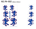 Decal Zone: PA-002 USA Dancing Lion - 300x205mm