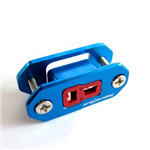 SpotOn Deans Connector BulkheadBlue TRA-101