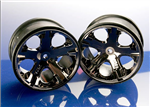 TRX-3772A All Star 2.8in Rear Wheels Black Chrome