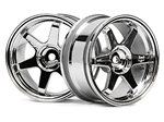 HPI-3842 TE37 Wheel 26mm Chrome