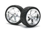 HPI-4735 Mounted X-Pattern Tire D Compound TE37