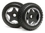 HPI-4736 Dirt Buster Rib Tire M Compound Mounted