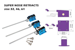 PM-22002 Super nose retract .32-61