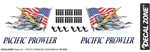 Decal Zone: Pacific Prowler USA - 250x85mm