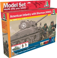 ITALERI 1:72 - Sherman and US Infantry Startsett