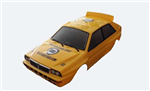 EZRL2324-WH Lancia Delta Evo2 Painted Body Yellow