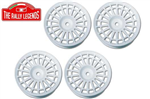 EZRL2062 Delta Type White Spokes Rim 4pcs 1/10