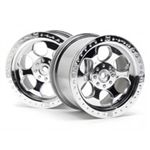 HPI-3117 6 Spoke Wheel Shiny Chrome