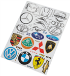 Decal Sheet - Car Stickers Logo Collection 1