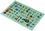 Decal Sheet - Figur- och maskotkollektion
