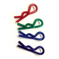 Fastrax Metalic Red Small Clips (8)