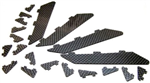 PA XR61 CF Carbon Vortex Generators Set