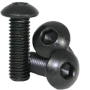 M3x10mm Steel Button Head Screw Black 10stk