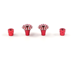 FrSky M4 Stick End Grande Lotus Red. 2-pack