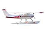 Topp RC Cessna 182 med floats röd - 1500mm PNP