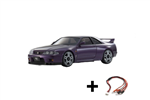 Kyosho Mini-Z AWD Skyline GTR R33 m/LED - Purple