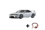 Kyosho Mini-Z AWD Skyline GTR R33 m/LED - Silver
