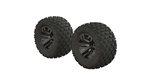 AR550045 Fortress MT Tire Set Glued Black Chr (2)