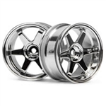 HPI-3847 TE37 Hjul Chrome - 2st