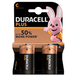 Duracell Plus C batteri 2st