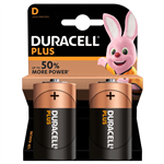 Duracell Plus D-batteri 2st