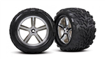 TRX-5374 Revo Gemini tires and rims 2pcs 14mm hex