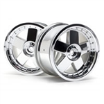 HPI-3007 GT 5 WHEEL CHROME (83X56MM / 2PC)